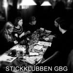 Stickklubben i Göteborg ölstickar på Haket