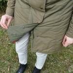 Grön kappa med knappar - insida