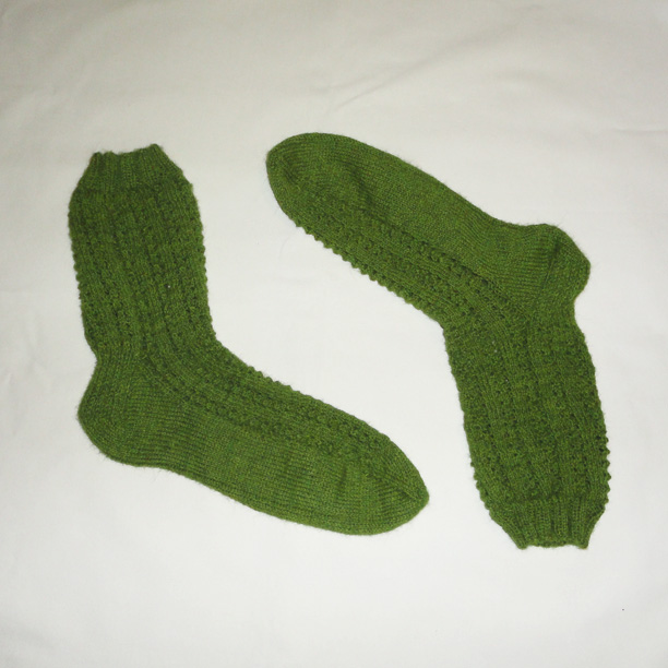 Twisted lace socks