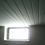 Nymålat tak i syrummet